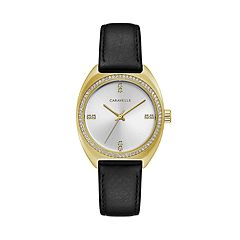 Caravelle Women's Crystal Leather Watch - 44L250