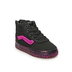 Vans Ward Hi Zip Toddler Girls' Glitter Skate Shoes