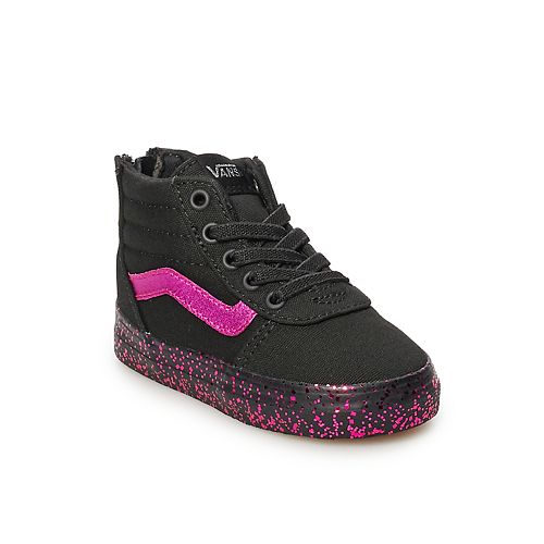 84bf70c2219 Vans Ward Hi Zip Toddler Girls  Glitter Skate Shoes