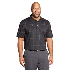 Big & Tall Van Heusen Classic-Fit Flex Windowpane Polo