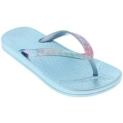 Girls 4-12 Elli by Capelli Mermaid Scale Thong Flip Flop Sandals