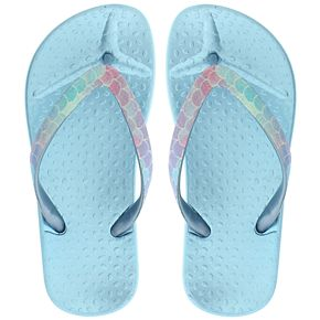 Girls 4-12 Elli by Capelli Mermaid Scale Thong Flip Flop Sandals