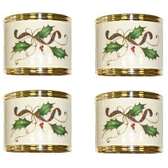 Lenox Holiday Nouveau Napkin Ring 4-Pack