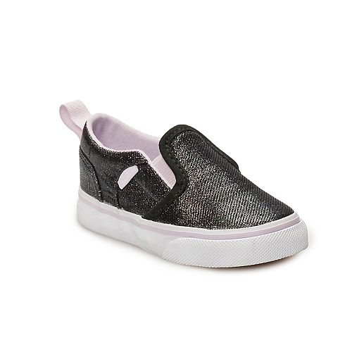 f270123ec9b Vans Asher V Toddler Girls  Glitter Skate Shoes