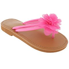 Girls 4-12 Elli by Capelli Chiffon Flower Thong Flip Flop Sandals