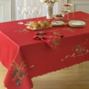 Lenox Holiday Nouveau Cutwork Tablecloth