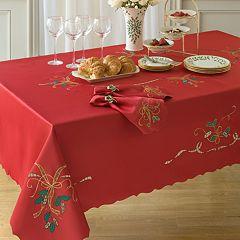 Lenox Holiday Nouveau Cutwork Tablecloth