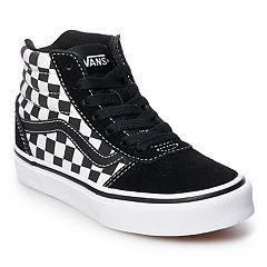142877bf76c Vans Ward Hi Checkered Boys  Skate Shoes