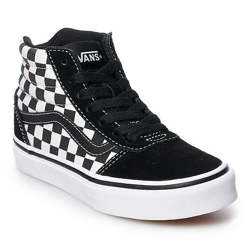 296624d85918cb Vans Ward Hi Checkered Boys  Skate Shoes
