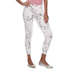 Women's Utopia by HUE Meadow Bouquet Denim Skimmer Leggings