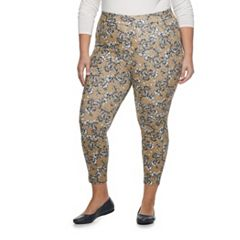 Plus Size Utopia by HUE Paisley Printed Jean Leggings