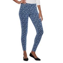 Women's Utopia by HUE Poppy Polka Dot Printed Jean Leggings