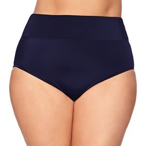 Plus Size Croft & Barrow® All Over Control High-Waisted Brief Swim Bottoms