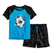 Baby Boy Jumping Beans® Active Raglan Top & Short Set