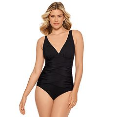 Women's Croft & Barrow® Crossover One-Piece Swimsuit