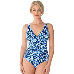 b905e3bfaca Women's Croft & Barrow® Crossover One-Piece Swimsuit. Cosmo Romantic Lace  Natures Breeze Refelection Black Pool Side