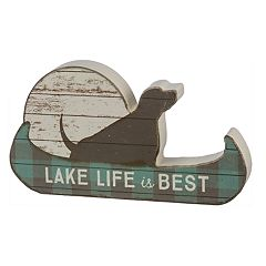 'Lake Life Is The Best' Dog Table Decor