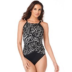 Women's Croft & Barrow® Tummy Slimmer One-Piece Swimsuit