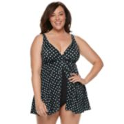 Plus Size Croft & Barrow® Flyaway Swimdress