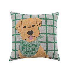 Celebrate St. Patrick's Day Together Dog Bandana Throw Pillow