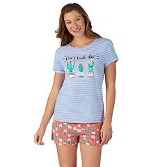 7fff47f72 Women s Cuddl Duds 3-Piece Sleep Tee