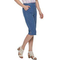Petites Croft & Barrow® The Classic Pull-On Snap Hem Capri Pants