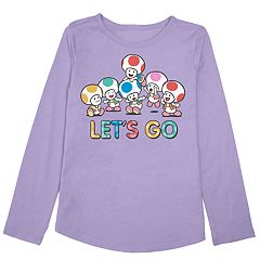 Girls 4-10 Jumping Beans® Super Mario Bros. Toad 'Let's Go' Graphic Tee