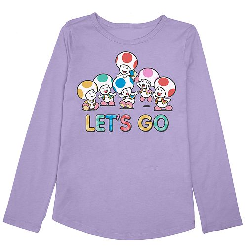 """Girls 4-10 Jumping Beans® Super Mario Bros. Toad """"Let's Go"""" Graphic Tee"""