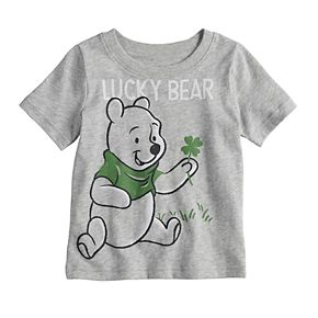 """Disney's Winnie the Pooh Baby Boy """"Lucky Bear"""" Graphic Tee by Jumping Beans®"""