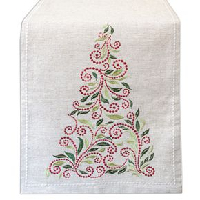 """Lenox French Perle Tree Table Runner - 70"""""""
