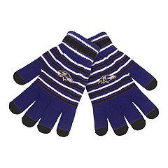 Adult Baltimore Ravens Striped Knit Gloves