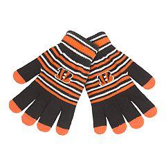 Adult Cincinnati Bengals Striped Knit Gloves