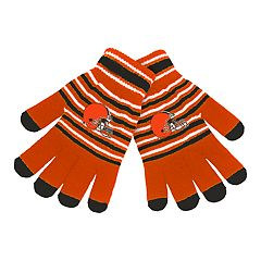 Adult Cleveland Browns Striped Knit Gloves
