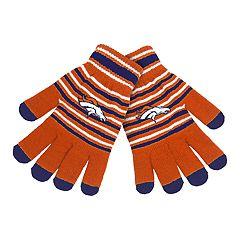 Adult Denver Broncos Striped Knit Gloves