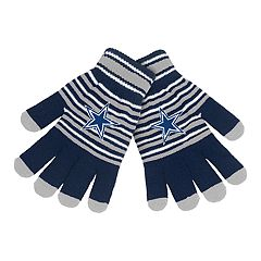 Adult Dallas Cowboys Striped Knit Gloves
