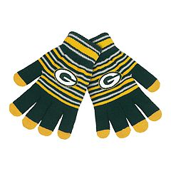Adult Green Bay Packers Striped Knit Gloves