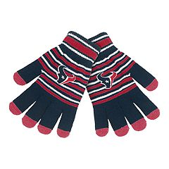 Adult Houston Texans Striped Knit Gloves