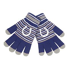 Adult Indianapolis Colts Striped Knit Gloves