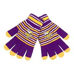 Adult Minnesota Vikings Striped Knit Gloves