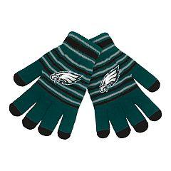 Adult Philadelphia Eagles Striped Knit Gloves