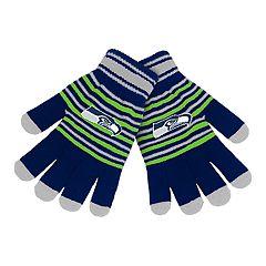 Adult Seattle Seahawks Striped Knit Gloves