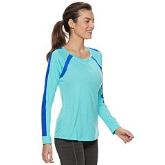 Women's FILA SPORT® Mesh Insert Long Sleeve Tee