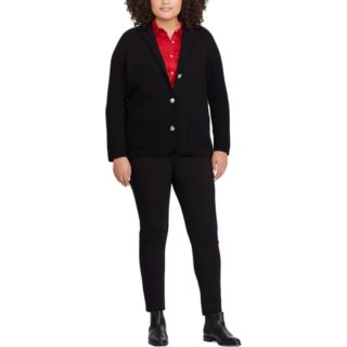 Plus Size Chaps Sweater Blazer
