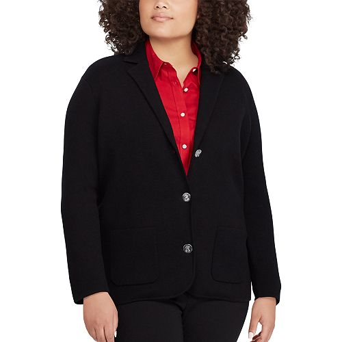 Plus Size Chaps Sweater Blazer