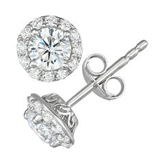 Simply Vera Vera Wang 14k White Gold 1 Carat T.W. Diamond Stud Earrings
