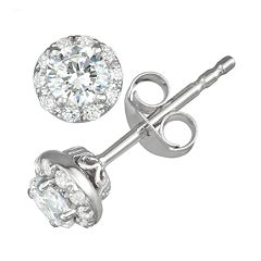 Simply Vera Vera Wang 14k White Gold 1/2 Carat T.W. Diamond Stud Earrings