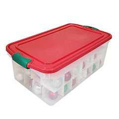 Homz 84 Count Ornament Storage Container