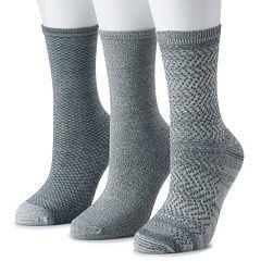 Women's Cuddl Duds 3-Pack Everyday Crew Socks
