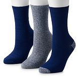 Women's Cuddl Duds 3-Pack Everyday Crew Socks