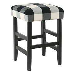 Buffalo Check Backless Counter Stool